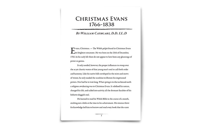 Christmas Evans by William Cathcart D.D.